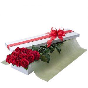 Dozen Roses in a Box