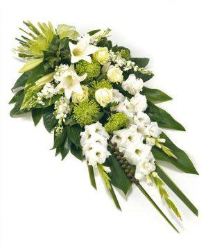 Green & White Flower Sheaf