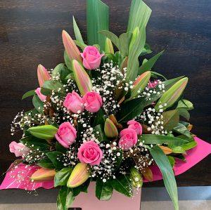 modern pinks arrangement